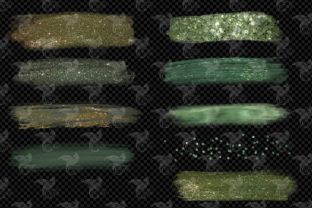 Willow and Sage Brush Strokes Clipart - 4