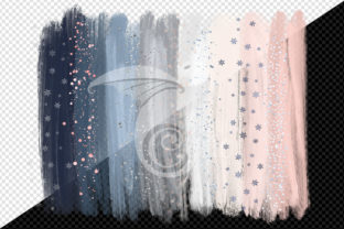 Print on Demand: Winter Brush Strokes Clipart Graphic Illustrations By Digital Curio 2