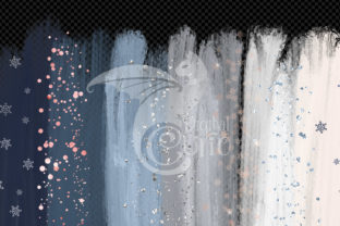 Print on Demand: Winter Brush Strokes Clipart Graphic Illustrations By Digital Curio 3