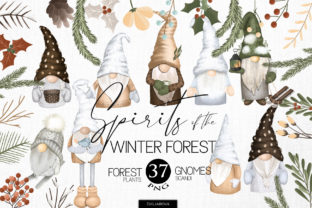 Winter Gnomes Clipart Graphic Illustrations By HappyWatercolorShop