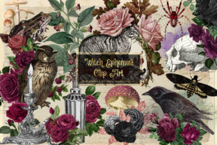 Print on Demand: Witch Ephemera Clipart Graphic Illustrations By Digital Curio