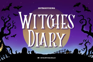 Print on Demand: Witches Diary Display Font By Burntilldead