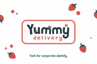 Print on Demand: Yummy Delivery Display Font By Fractal font factory