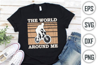 Bicycle Quotes T-shirt Design, the World Graphic Print Templates By Alif Graphics