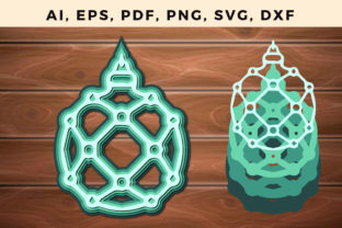 Print on Demand: Multi Layer Christmas Ball Paper Cut Svg Graphic 3D SVG By NGISED