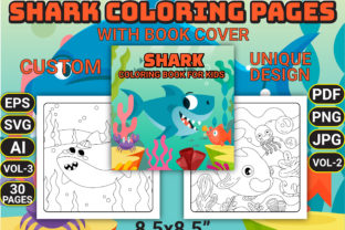 Print on Demand: Shark Coloring Pages with Book Cover Graphic Coloring Pages & Books Kids By Simran Store
