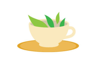 Tea Leaves in a Tea Cup Food & Drinks Craft Cut File By Creative Fabrica Crafts
