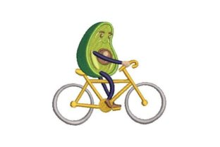 Avocado Cyclist Games & Leisure Embroidery Design By Embroidery Designs