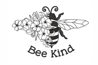 Bee Kind Inspirational Embroidery Design By SonyaEmbroideryStore