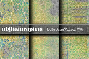 Boho Geom Papers | FREEBIE Graphic Backgrounds By FlyingMonkies