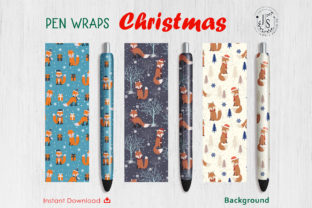 Print on Demand: Christmas Fox Pen Wraps, Red Fox Graphic Crafts By jannta