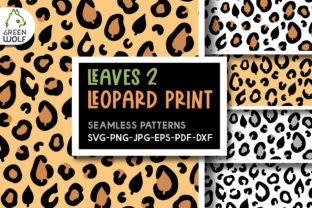 Fall Leaves Leopard Print Svg Graphic Crafts By GreenWolf Art