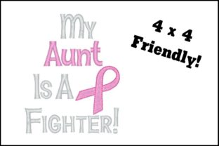 Fighter Aunt Awareness Embroidery Design By TheBabysBooty