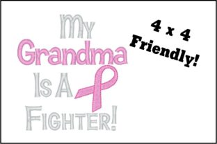 Fighter Grandma Awareness Embroidery Design By TheBabysBooty