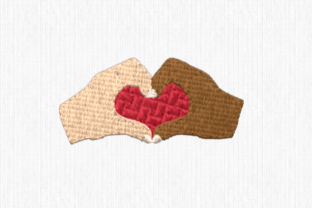 Hands with Heart Friends Embroidery Design By Scrappy Remnants