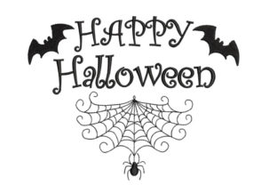 Happy Halloween Sign Halloween Embroidery Design By Canada Crafts Studio