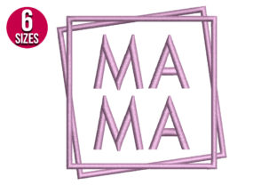 Print on Demand: Mama Mother Embroidery Design By nationsembroidery