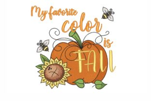 My Favorite Color is Fall Autumn Embroidery Design By NinoEmbroidery