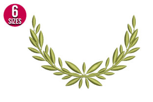 Print on Demand: Olive Wreath Floral Wreaths Embroidery Design By nationsembroidery