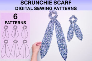 Scrunchie Scarf Digital Sewing Patterns Graphic Sewing Patterns By Hey Vivi Designs