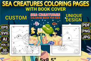 Print on Demand: Sea Creatures Coloring Pages Vol-3 Graphic Coloring Pages & Books Kids By Simran Store