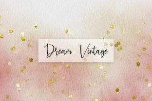 Print on Demand: Vintage Watercolor Glitter Background Graphic Backgrounds By PinkPearly