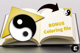 Print on Demand: Yin Yang Graphic 3D SVG By grafikestelle