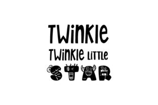 Twinkle Twinkle Little Star Children Craft Cut File By Creative Fabrica Crafts
