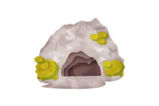 Cave Entrance Watercolor Nature & Outdoors Craft Cut File By Creative Fabrica Crafts