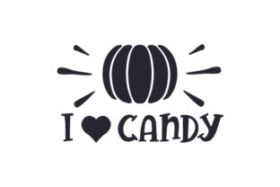 I (heart) Candy Halloween Craft Cut File By Creative Fabrica Crafts