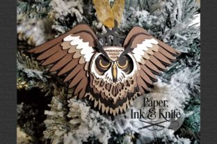 3D Owl Layered Paper Ornament Graphic 3D SVG By Paper Ink And Knife