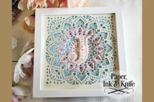 3D Papercut Shadowbox Monogram Alphabet Graphic 3D Shadow Box By Paper Ink And Knife