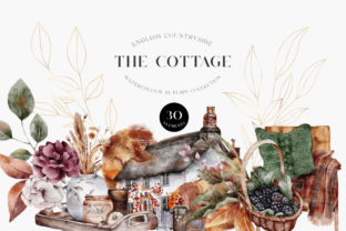 Print on Demand: Autumn Watercolor Collection Gold  PNG Graphic Illustrations By Busy May Studio
