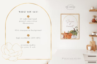 Autumn Watercolor Collection Gold  PNG - 4