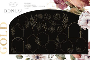 Print on Demand: Autumn Watercolor Collection Gold  PNG Graphic Illustrations By Busy May Studio 5