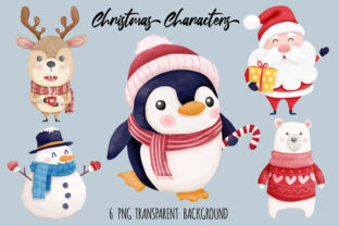 Print on Demand: Christmas Characters Collection Graphic Illustrations By kritkongjundee