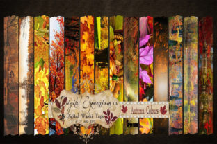 Digital Autumn Printable Washi Tape Graphic Web Elements By Digital Expressions CA