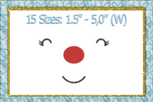 Print on Demand: Doll or Toy Face Toys & Games Embroidery Design By larisaetsy