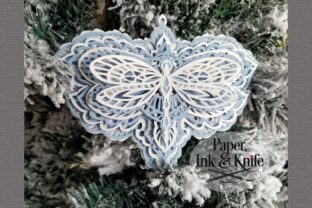 Dragonfly 3D Paper Layered Ornament Graphic 3D SVG By Paper Ink And Knife