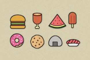 Print on Demand: Food Patch Icon Pack Food & Dining Embroidery Design By Wilansa
