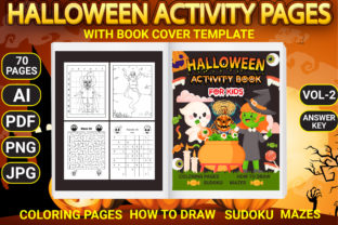 Print on Demand: Halloween Activity Pages with Book Cover Graphic Coloring Pages & Books Kids By Simran Store