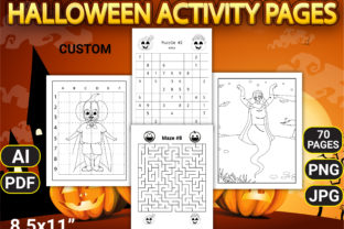 Halloween Activity Pages with Book Cover - 2