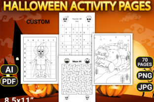 Halloween Activity Pages with Book Cover - 3