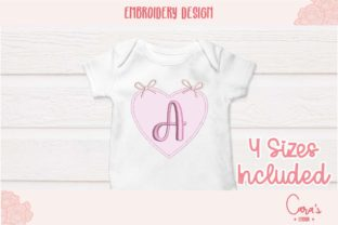 Heart with Bows Applique Babies & Kids Embroidery Design By carasembor