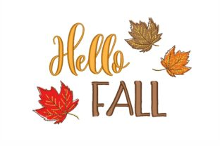 Hello Fall Autumn Embroidery Design By NinoEmbroidery