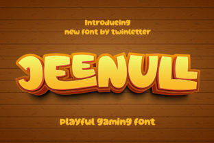 Print on Demand: Jeenull Display Font By twinletter