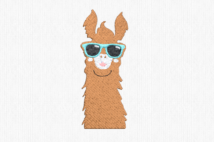 Llama with Sunglasses Farm Animals Embroidery Design By Scrappy Remnants