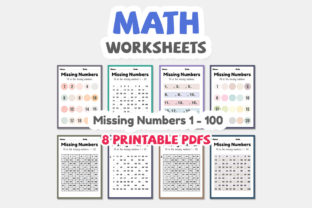 Print on Demand: Math Worksheets of Missing Numbers Graphic Teaching Materials By TukTuk Design