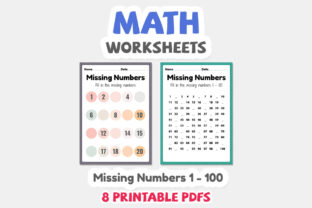Math Worksheets of Missing Numbers - 2