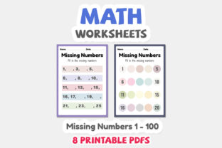 Math Worksheets of Missing Numbers - 3